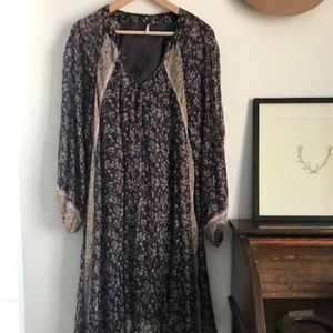 Free People floral boho midi dress